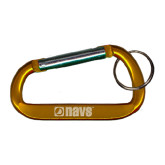 Orange Carabiner with Split Ring-NAVS Engraved