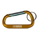 Orange Carabiner with Split Ring-NAVS Engraved
