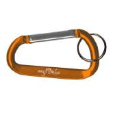Orange Carabiner with Split Ring-Eagle Lake Camps Engraved