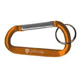 Orange Carabiner with Split Ring-Glen Eyrie - Flat Engraved