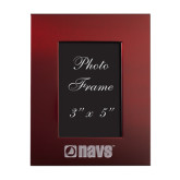 Maroon Brushed Aluminum 3 x 5 Photo Frame-NAVS Engraved