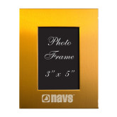 Gold Brushed Aluminum 3 x 5 Photo Frame-NAVS Engraved