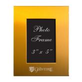 Gold Brushed Aluminum 3 x 5 Photo Frame-Glen Eyrie - Flat Engraved