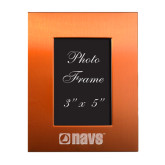 Orange Brushed Aluminum 3 x 5 Photo Frame-NAVS Engraved
