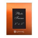 Orange Brushed Aluminum 3 x 5 Photo Frame-Glen Eyrie - Flat Engraved