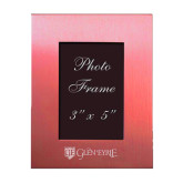 Pink Brushed Aluminum 3 x 5 Photo Frame-Glen Eyrie - Flat Engraved