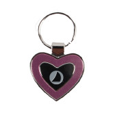 Silver/Pink Heart Key Holder-Navigators Sail Engraved