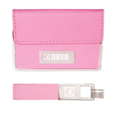 Business Card Case and Key Ring Set Pink-NAVS Engraved