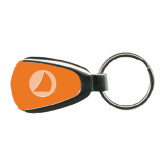 Orange Teardrop Key Holder-Navigators Sail Engraved