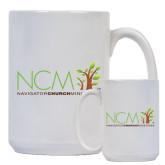 Full Color White Mug 15oz-NCM - Navigator Church Ministries