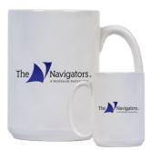 Full Color White Mug 15oz-The Navigators - Worldwide Partnership