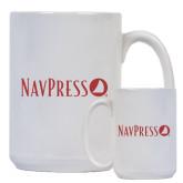 Full Color White Mug 15oz-NAVPRESS