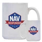 Full Color White Mug 15oz-NAV Responder