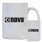 Full Color White Mug 15oz-NAVS
