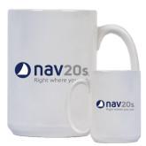 Full Color White Mug 15oz-NAV 20s Right Where You Are