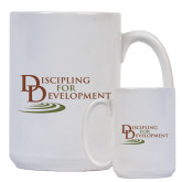 Full Color White Mug 15oz-Discipling For Development