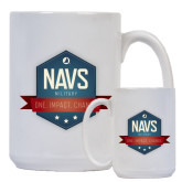 Full Color White Mug 15oz-NAVS Military