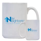 Full Color White Mug 15oz-Navs Neighbors