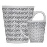 Full Color Latte Mug 12oz-The Navigators Script Pattern
