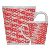 Full Color Latte Mug 12oz-NAVS Pattern