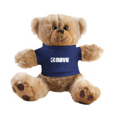 Plush Big Paw 8 1/2 inch Brown Bear w/Navy Shirt-NAVS