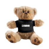Plush Big Paw 8 1/2 inch Brown Bear w/Black Shirt-NAVS