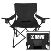 Deluxe Black Captains Chair-NAVS