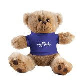 Plush Big Paw 8 1/2 inch Brown Bear w/Royal Shirt-Eagle Lake Camps