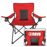 Navigators Deluxe Red Captains Chair-NAVS
