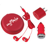 3 in 1 Red Audio Travel Kit-Eagle Lake Camps
