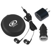 3 in 1 Black Audio Travel Kit-Edge Corps E w/ Web Address