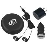 3 in 1 Black Audio Travel Kit-Edge Corps E w/ Web Address