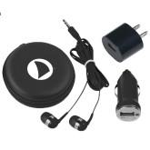 3 in 1 Black Audio Travel Kit-Navigators Sail