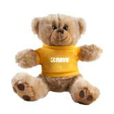 Plush Big Paw 8 1/2 inch Brown Bear w/Gold Shirt-NAVS