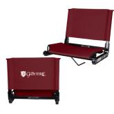 Stadium Chair Maroon-Glen Eyrie - Flat