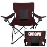 Navigators Deluxe Maroon Captains Chair-NAVS