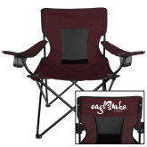 Deluxe Maroon Captains Chair-Eagle Lake Camps