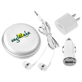 3 in 1 White Audio Travel Kit-Eagle Lake Camps