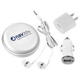 3 in 1 White Audio Travel Kit-NAV 20s Right Where You Are