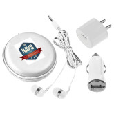 3 in 1 White Audio Travel Kit-NAVS Military