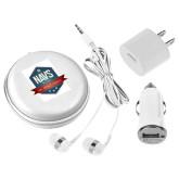 3 in 1 White Audio Travel Kit-NAVS Military