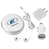 3 in 1 White Audio Travel Kit-Edge Corps E w/ Web Address