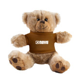 Plush Big Paw 8 1/2 inch Brown Bear w/Brown Shirt-NAVS