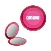 Pink Round Compact With 2x Magnifier Mirror-NAVS