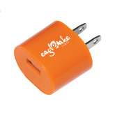 Orange USB A/C Adapter-Eagle Lake Camps