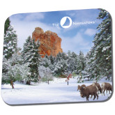 Full Color Mousepad-Big Horn Sheep Snow