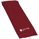 Maroon Golf Towel-Glen Eyrie - Flat