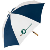 62 Inch Navy/White Umbrella-The Navigators