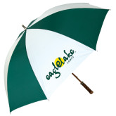 62 Inch Forest Green/White Umbrella-Eagle Lake Camps
