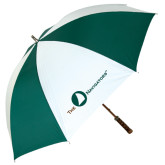 62 Inch Forest Green/White Umbrella-The Navigators